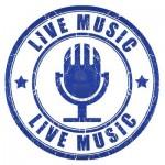 15091600-live-music-stamp